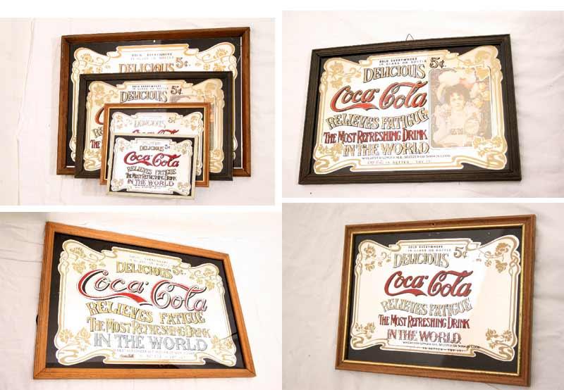 4 sch ne coca cola spiegel bilder werbspiegel. Black Bedroom Furniture Sets. Home Design Ideas