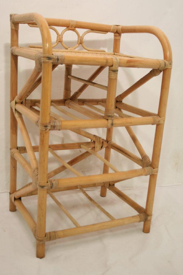 wundersch nes standregal beistelltisch bambus tisch ebay. Black Bedroom Furniture Sets. Home Design Ideas