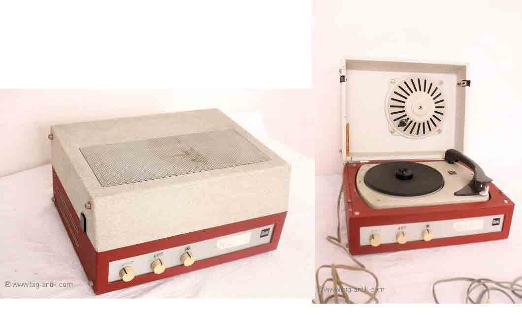 nostalgischer plattenspieler koffer grammophone dual p300. Black Bedroom Furniture Sets. Home Design Ideas