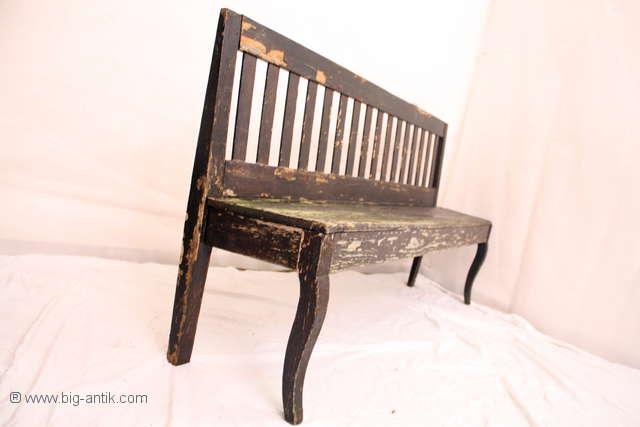 gro e antike biedermeier gartenbank bank holzbank. Black Bedroom Furniture Sets. Home Design Ideas