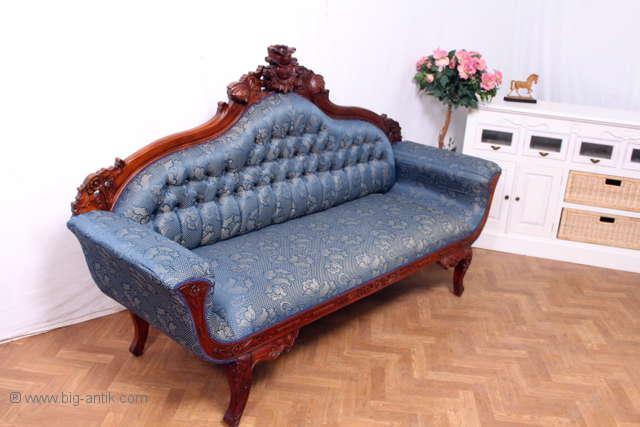 prunkvolles 3 sitzer chippendale sofa barock kanapee. Black Bedroom Furniture Sets. Home Design Ideas