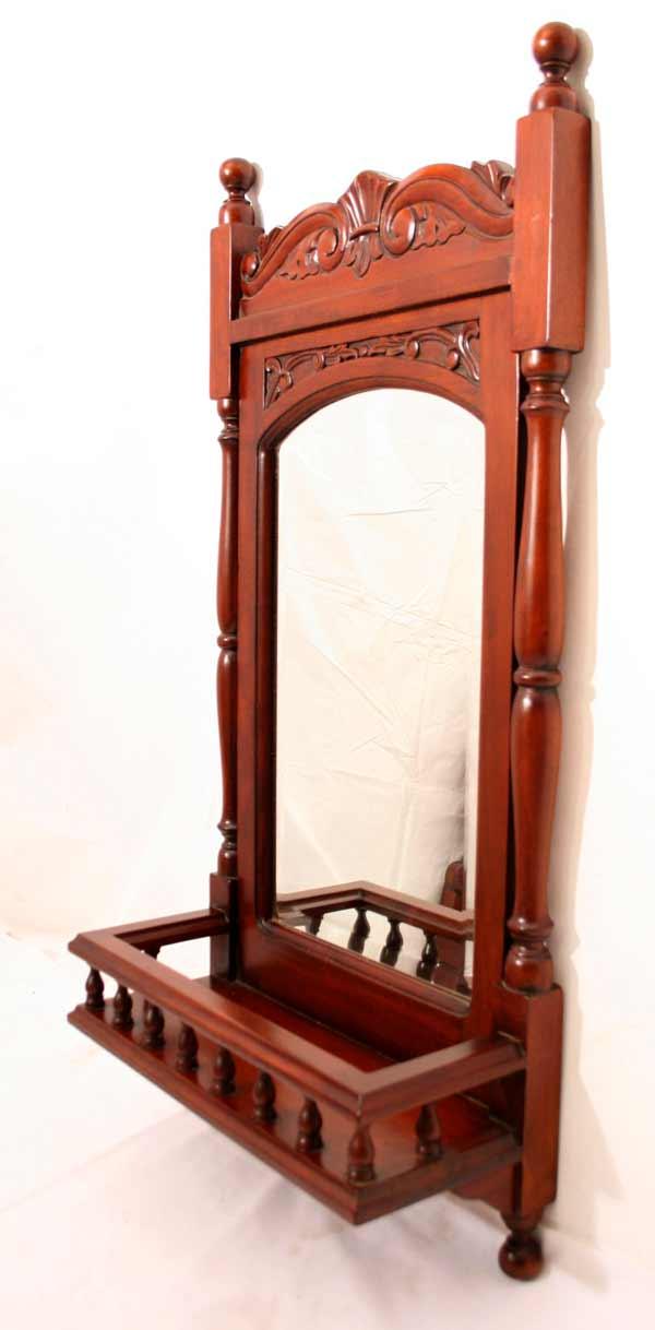 zauberhafter edlholz spiegel mit galerie flurspiegel m ablage u s ulen kol. Black Bedroom Furniture Sets. Home Design Ideas
