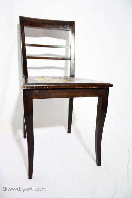 filigraner antiker art d co stuhl s belbeine nu baum brettstuhl holzstuhl ebay. Black Bedroom Furniture Sets. Home Design Ideas