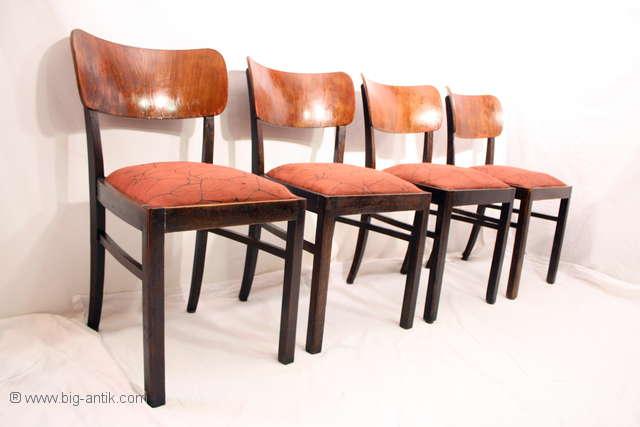 4 sch ne antike art d co bauhaus st hle polsterst hle. Black Bedroom Furniture Sets. Home Design Ideas