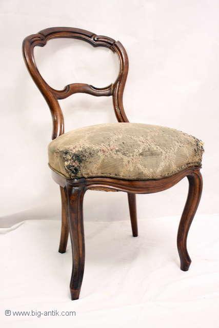 sehr sch ner antiker louis philippe stuhl polsterstuhl. Black Bedroom Furniture Sets. Home Design Ideas