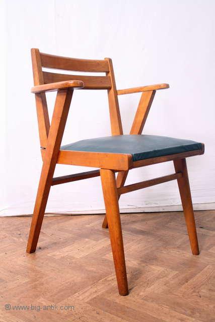 Vintage precioso 60er reposabrazos silla acolchado silla for Silla vintage reposabrazos