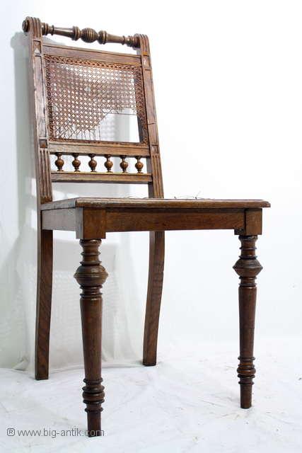 wundersch ner antiker gr nderzeit stuhl walzenstuhl geflecht drechselarbei ebay. Black Bedroom Furniture Sets. Home Design Ideas