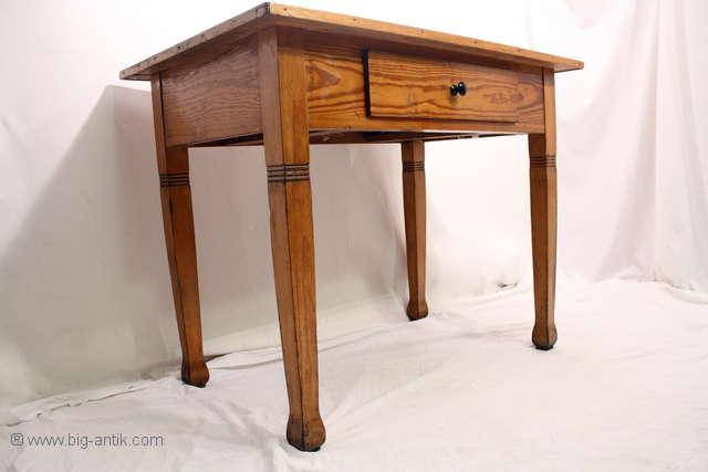 Antiker Esstisch Jugendstil ~ Wunderschöner antiker Jugendstil Küchentisch  Esstisch Schreibtisch  Schublade