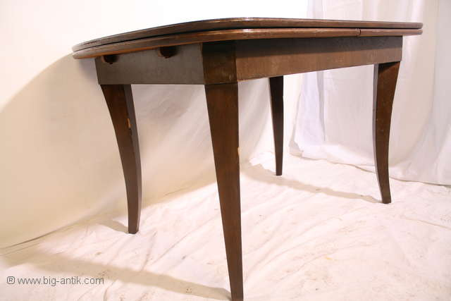 zauberhafter antiker art d co esstisch k chentisch ausziehbar s belbeine ebay. Black Bedroom Furniture Sets. Home Design Ideas