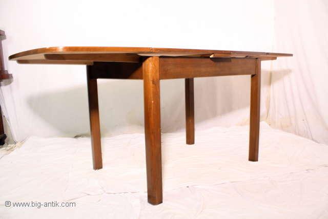 wundersch ner antiker 50er esstisch k chentisch ausziehbar tisch 2 auszi ebay. Black Bedroom Furniture Sets. Home Design Ideas