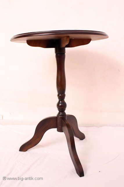 eleganter runder beistelltisch couchtisch holztisch cafetisch rauchtisch ebay. Black Bedroom Furniture Sets. Home Design Ideas