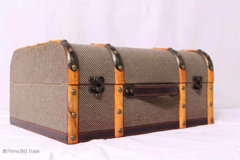 Retro oldtimerkoffer koffer halbrund holzleisten koffer 2 for Sessel halbrund