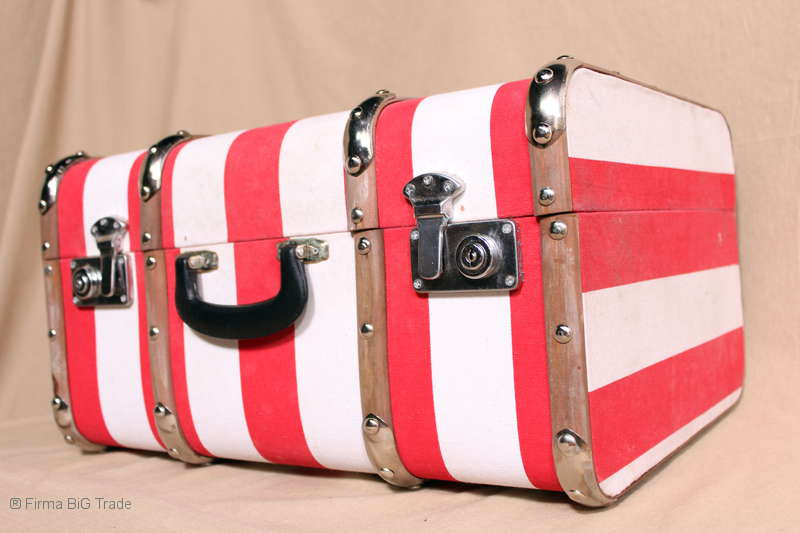 Shabby Chic Holzkoffer Oldtimer koffer Kinderkoffer beschriftet 3 Größen M Leder