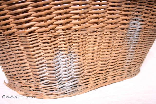 Dekorativer korb korbschale w schekorb griffe oval for Gunstige gartendekoration