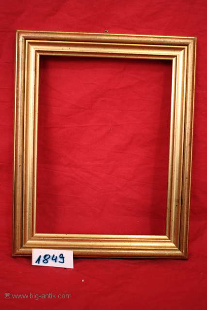 edler holzrahmen gem lderahmen bilderrahmen goldpatina verziert 1849 ebay. Black Bedroom Furniture Sets. Home Design Ideas
