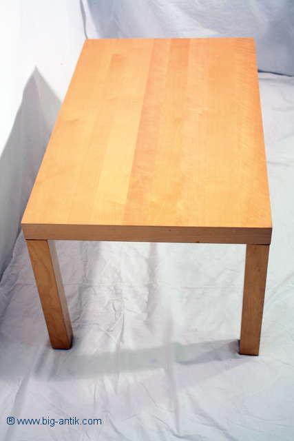 sehr sch ner eckiger couchtisch wohnzimmertisch beistelltisch kantige beine ebay. Black Bedroom Furniture Sets. Home Design Ideas
