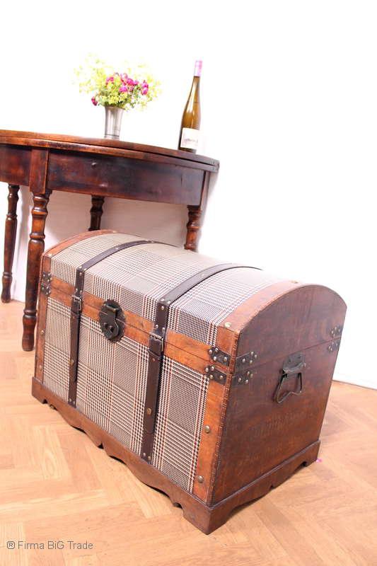 Antik Style Retro Woo Wunderschöne Runddeckeltruhe Hochzeittruhe Wäschetruhe